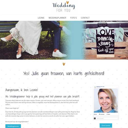 Wedding For You webdesign Mrs Website