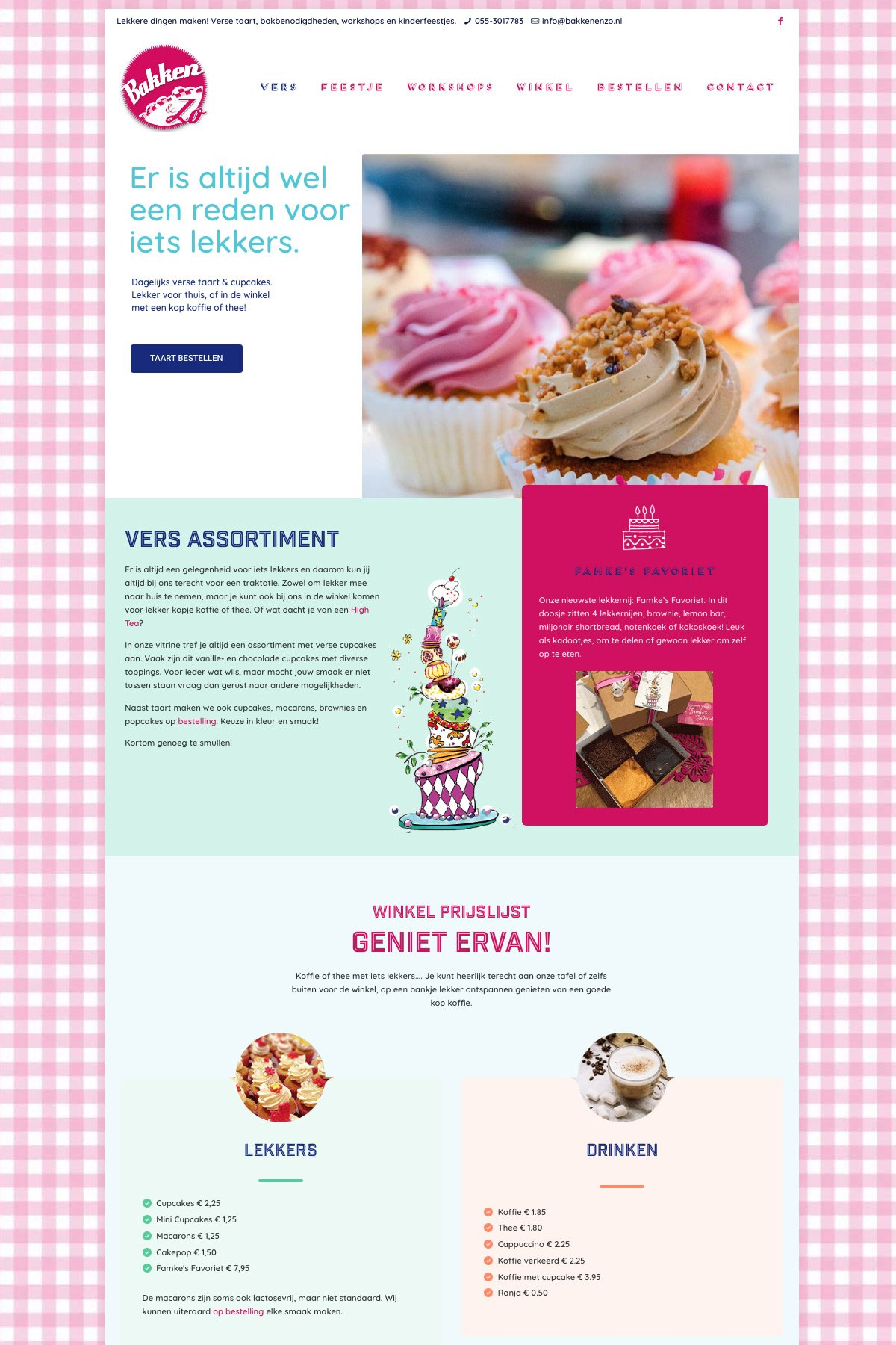 Bakken & Zo | Mrs. Website webdesign
