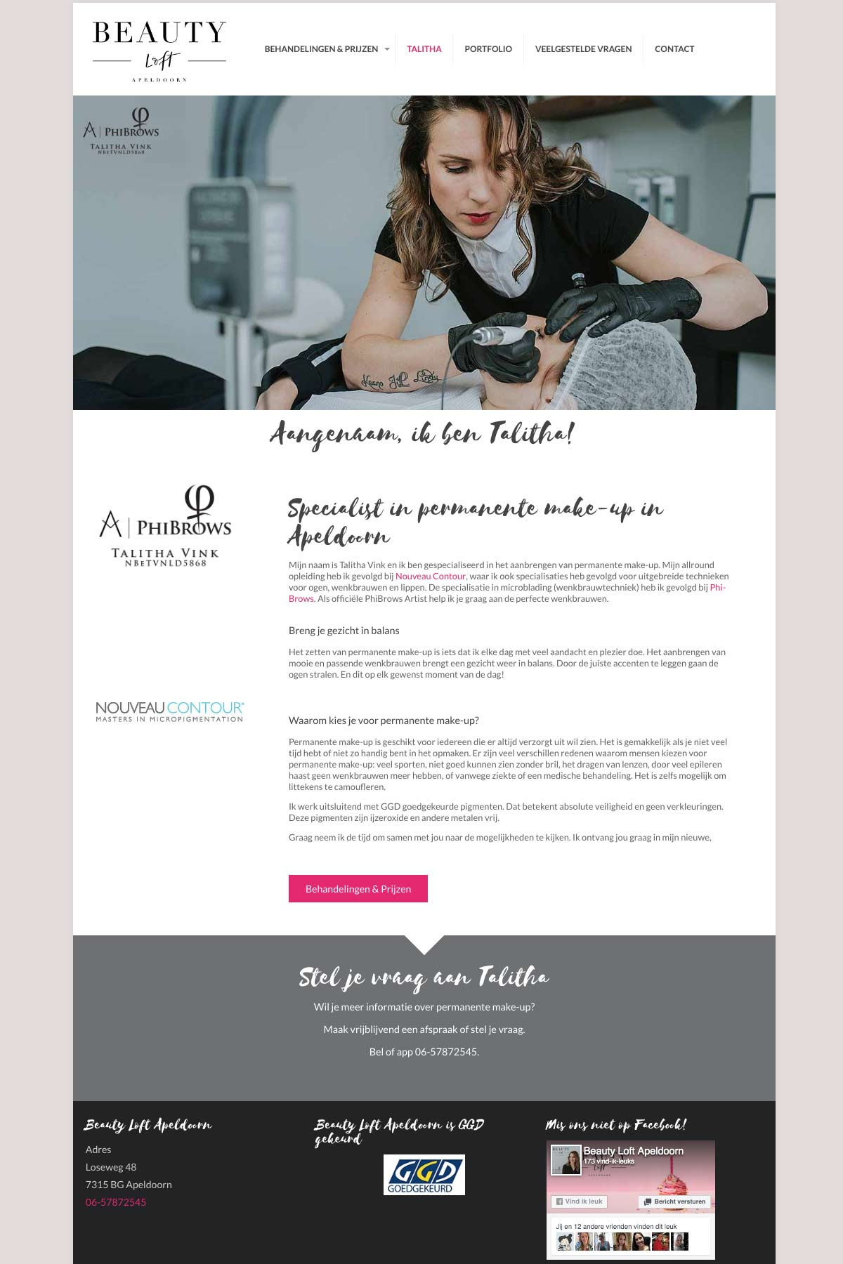 Beauty Loft Apeldoorn | Mrs. Website webdesign